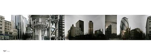 london #57 - lloyds building & swiss re