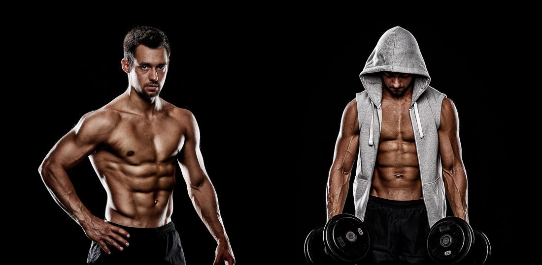 Sportler Portrait eines Bodybuilders