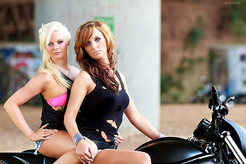 Girls on Bike 1