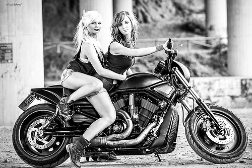 Girls on Bike 3