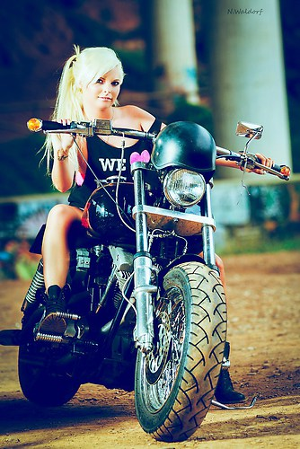 Girl on bike 4