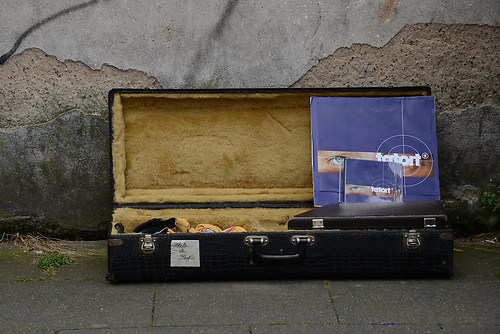 Requisite und Koffer des Saxophon des Jazz-Musiker und Komponist (DSC_2846)