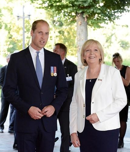 Ankunft des britischen Thronfolgers Prinz William mit NRW Ministerpraesidentin Hannelore K