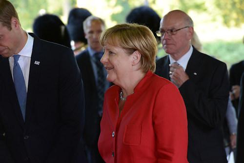 Ankunft der deutschen Bundeskanzlerin Dr. Angela Merkel auf dem  (DSC_4339)
