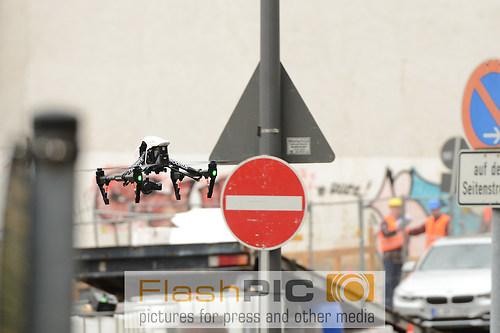 Kamera Drohne des Produktionsteams bei den Dreharbeiten und Sett (DSC_6432)