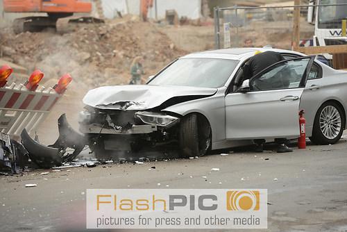 Stunt und Crash einer Verfolgungsjagd durch die Innenstadt  bei  (DSC_6456)
