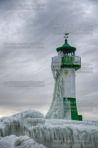 Leuchtturm der Sassnitzer Mole Februar 2014