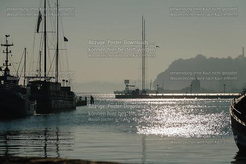 Blick in den Sassnitzer Hafen