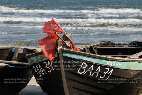Fischerboote am Baaber Strand