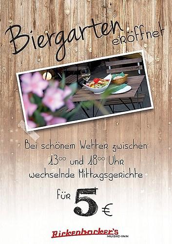 Rickenbacker's Biergarten | Eröffnungsflyer