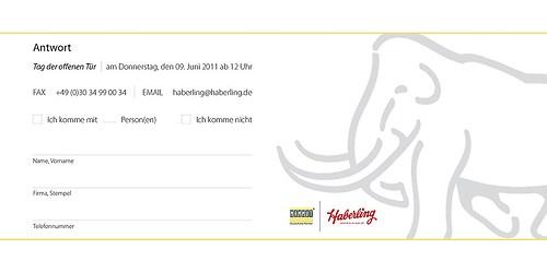 Haberling | Antwortkarte für Einladung