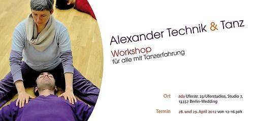 Tanja Hübner   Alexandertechnik & Tanz - Flyer Workshop