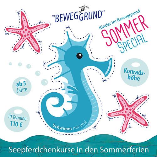 GST | Flyer - Ferienschwimmen (Vorderseite)