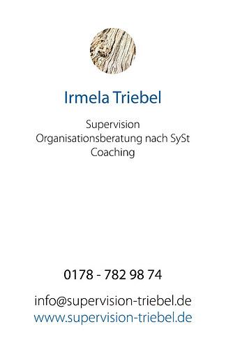 Supervision Triebel | Visitenkarte (Rückseite)