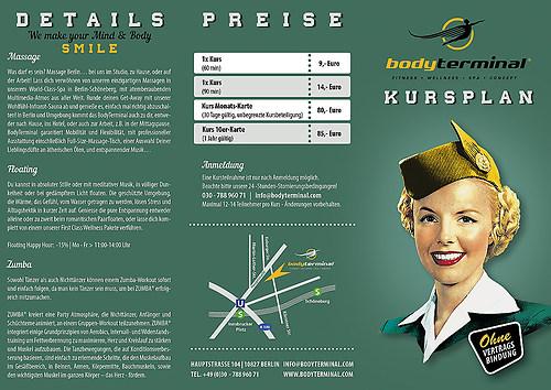 BodyTerminal   Flyer, 6 Seiten, Wickelfalz (Seite 1)