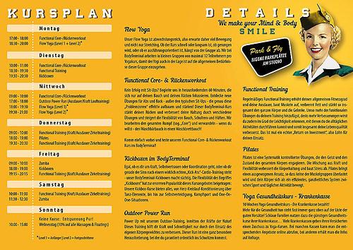BodyTerminal   Flyer, 6 Seiten, Wickelfalz (Seite 2)