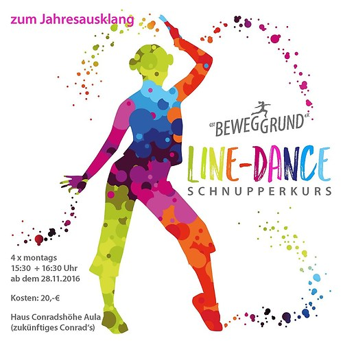 GST | Grafik Line Dance Flyer | Vorderseite