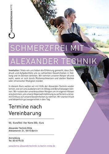 Grafik formstücke | Alexander Technik | Plakat A3