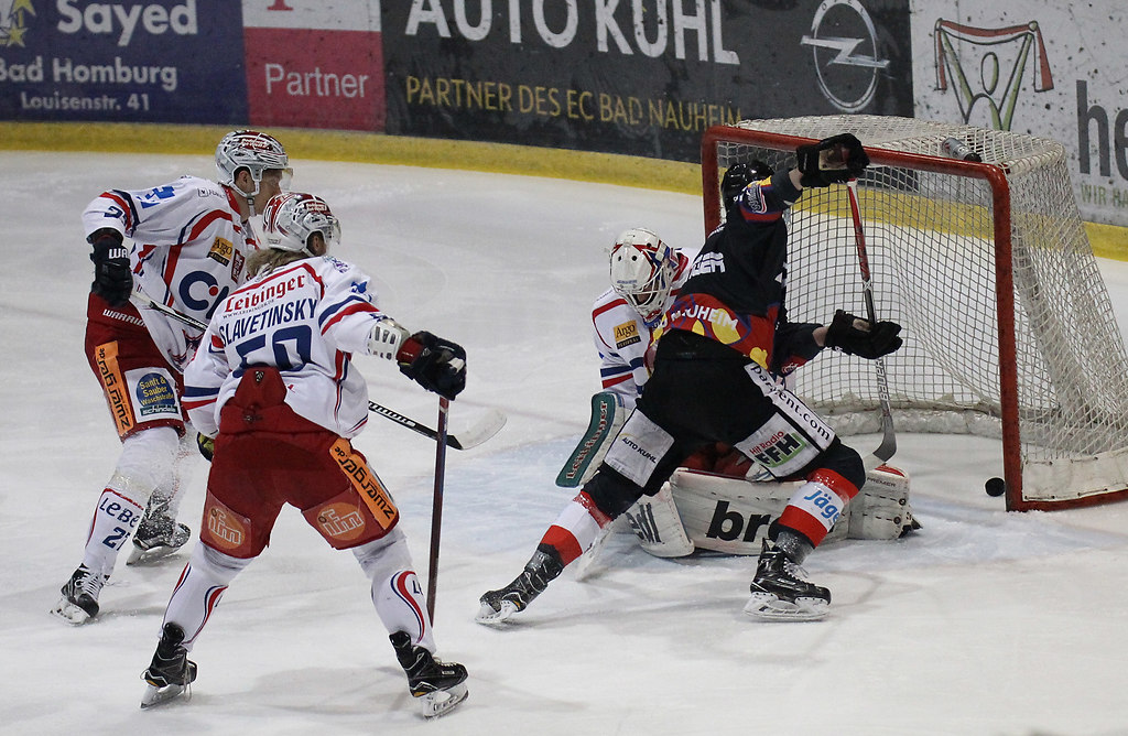 170305ILnaurav297 | 05.03.2017, xilx, Eishockey DEL 2, EC Bad Nauheim - Ravensburg Tower Stars, emspor, v.l.  Tor... | Action / Aktion / Eishockey / DEL2 / Liga / Zwei / Die Zweite / Sport / Saison 2016/2017