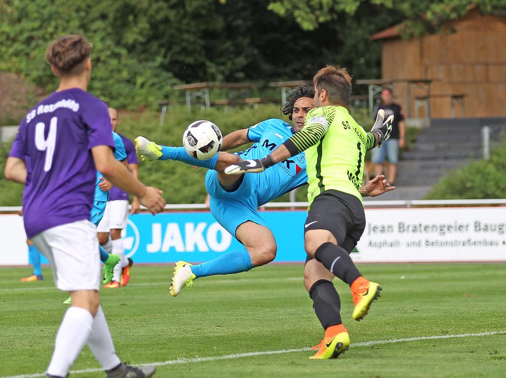170716DREROS 2801 | xxx 16.07.2017, Fussball Hessenliga, SC Hessen Dreieich - SG Rosenhoehe Offenbach, emspor v.l.... | Fussball Testspiel_SC Hessen Dreieich - SG Rosenhoehe Offenbach Saison 2017/2018, Hessenliga