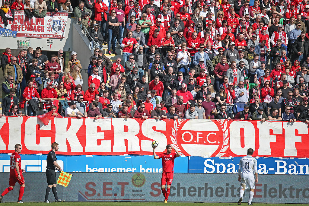 180325OFCWOR 6131 | 25.03.2018, xxx, Fussball,  Sparda-Bank-Hessen-Stadion, Offenbach, Regionalliga, Kickers... | Fussball Regionalliga, Kickers Offenbach OFC - VfR Wormatia Worms