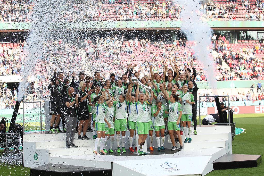 180519WOBBAY 7997 | 19.05.2018, xxx, Fussball, DFB-Pokalfinale der Frauen, Koeln, Rheinenergiestadion, VfL Wolfsburg... | VfL Wolfsburg - FC Bayern Muenchen