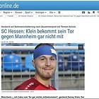 180809 SC Hessen Dreieich Danny Klein bekam sein Tor nicht mit