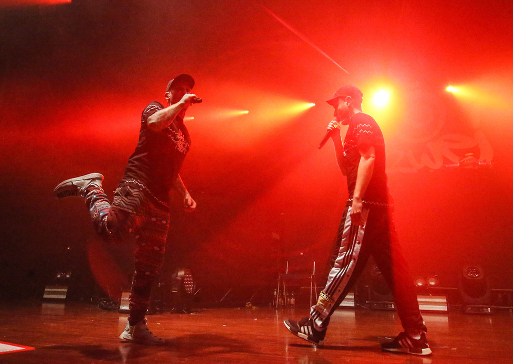 "181207_257ers 90   07.12.2018, xxx, Stadthalle Offenbach, 257ers Programm 2018, ""Auf Basis von Live"", Hip-Hop-Duo...   Hip-Hop, Musik, Rap"