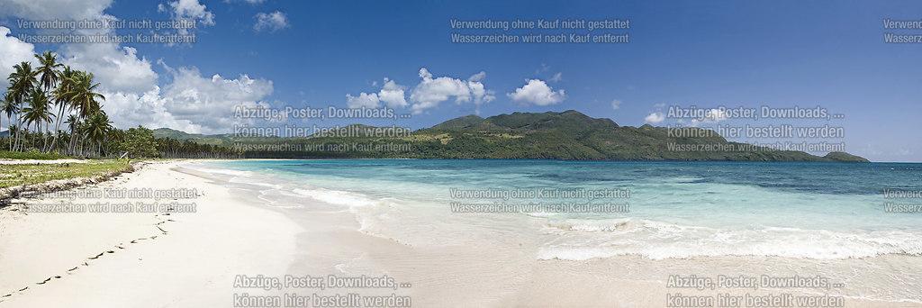 Einsamer Karibikstrand | Einsamer Karibikstrand in einem abgelegenen Winkel der Dominikanischen Republik | Strand, Beach, Wasser, Meer, Sonne, Urlaub