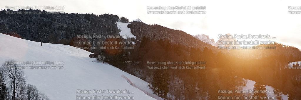 Der letzte Sonnenstrahl | Sonnenuntergang in den Alpen | Alpen, Berge, Landschaft, Panorama
