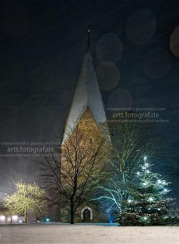 Gettorfer Kirche im Schnee