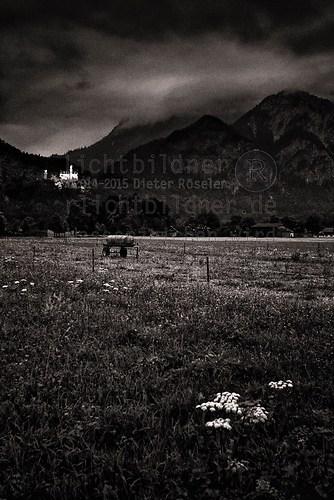 2002 | Schwangau | Schloss Neuschwanstein | Ein Meteorit wird nach des Königs schönstem Sc