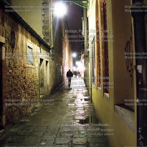 Venedig Straßen ohne Wasser