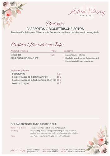 Preislisten_gesammelt.indd (Preis Passfotos)