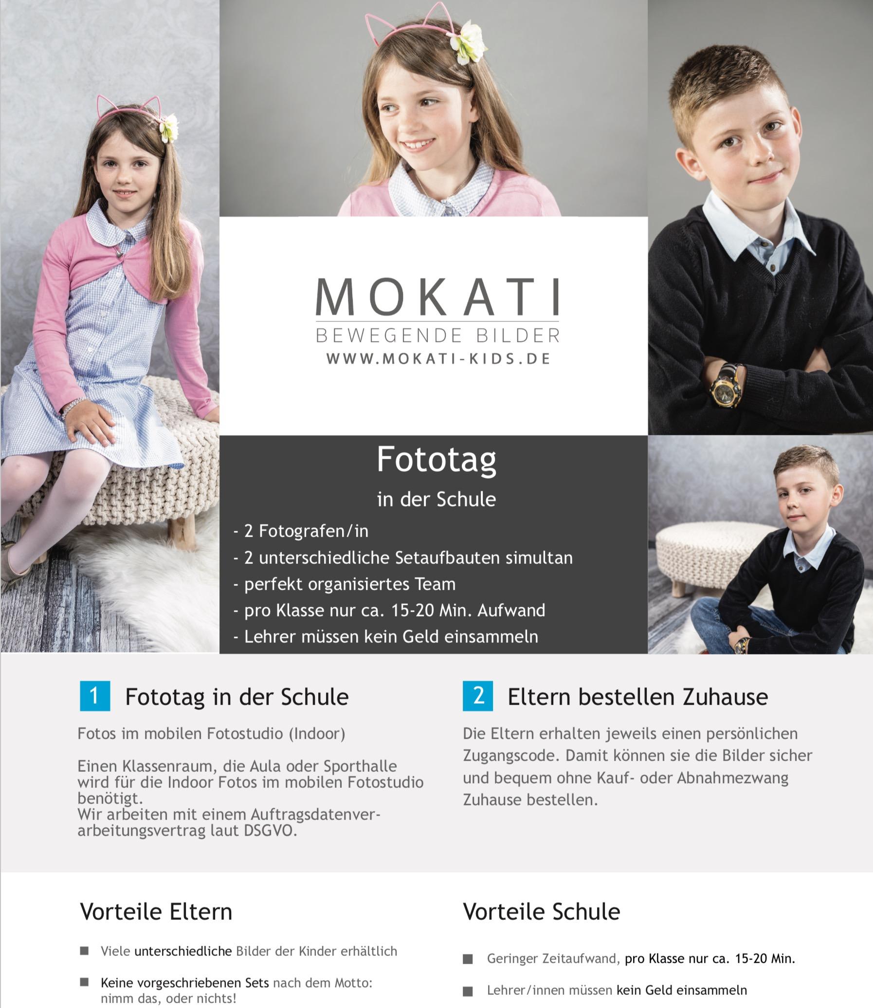 Fotograf in der Schule - Portraitfotos, Klassenfoto