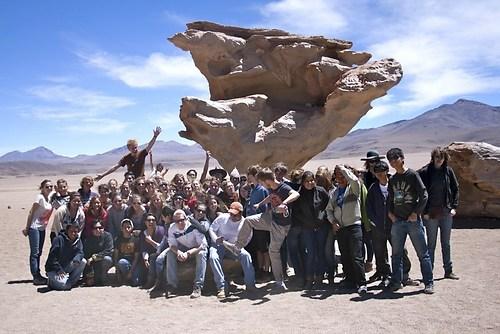 AFS-Gruppenbild vor dem Arbol de Piedra
