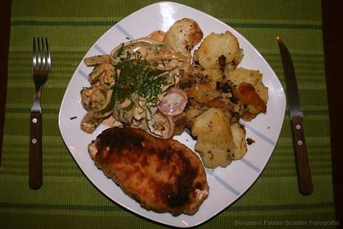Das Resultat meines ersten deutschen Mittagessens - kann sich sehen lassen!