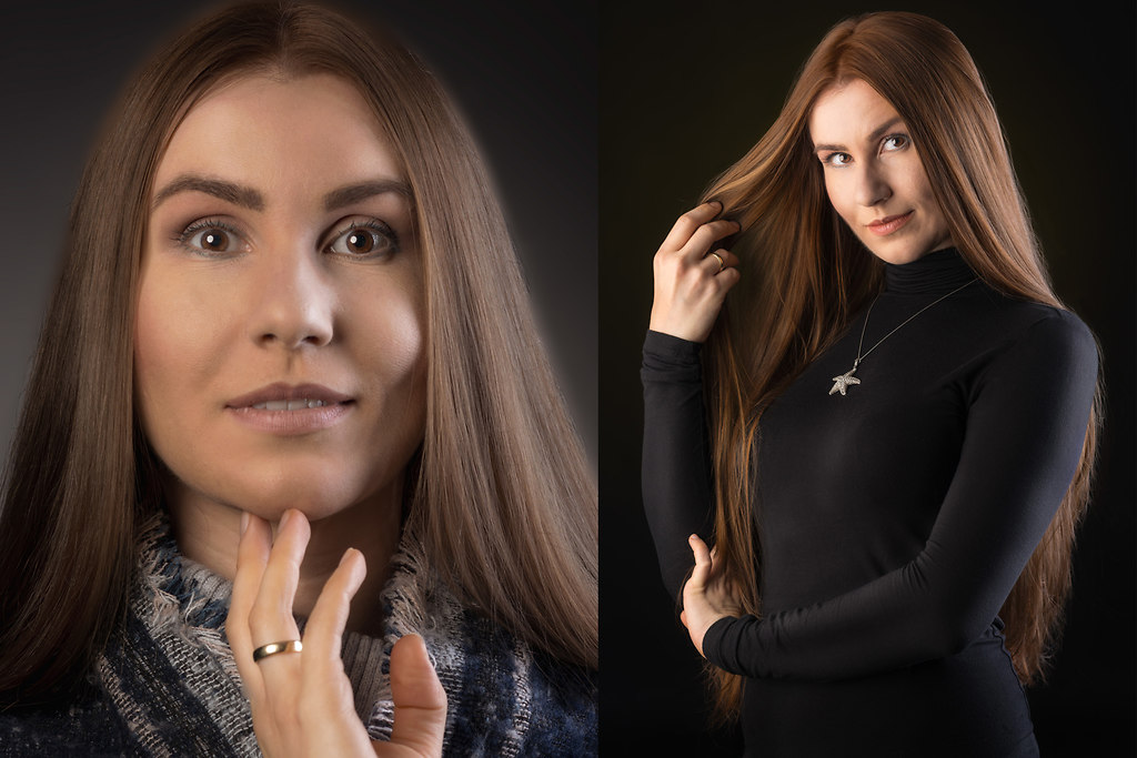   Studio Portrait Beauty shooting @ studio-unterwerk.de   Studio Portrait beauty Frau Visagie Visagisting shooting weiches Licht