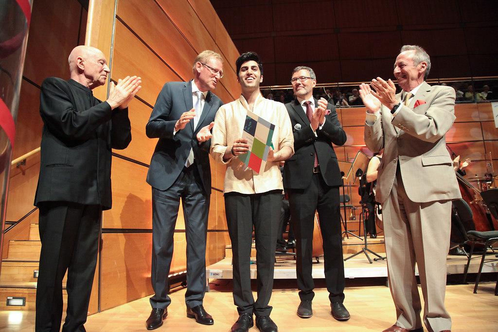 Leonard Bernstein Award (fotonick-AN-6696) | Preisträgerkonzert Leonard Bernstein AwardChristoph Eschenbach, Sparkassen- Finanzgruppe... | fotonick Kiel