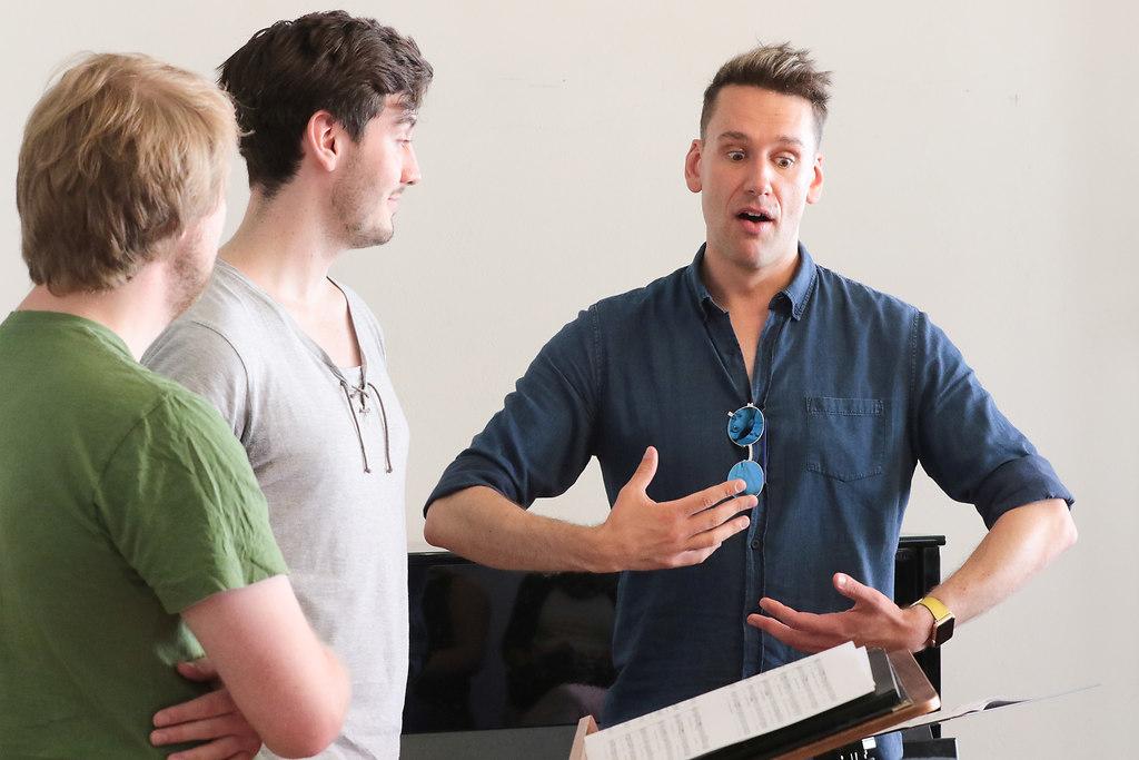 Kings Singers Meisterkurse (fotonick--2071) | Kings Singers Meisterkurse-Foto Axel Nickolaus- Jonathan Howard mit EnsembleDing | fotonick Kiel