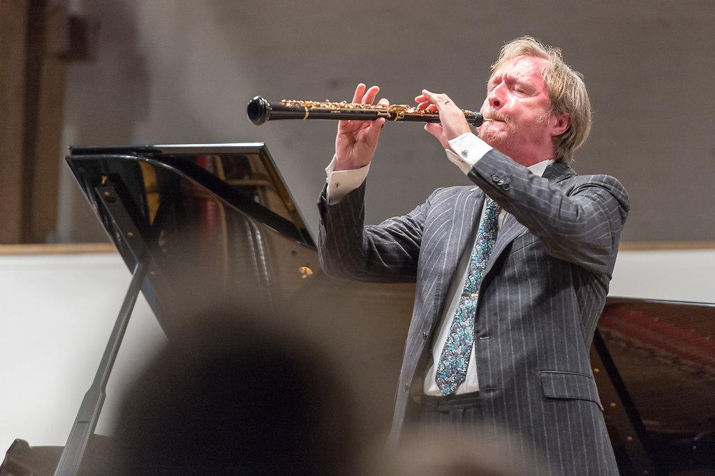 Albrecht Mayer (Fotonick-GB-0005493) | Albrecht Mayer, Oboe; Boris Giltburg, Klavier - Fotograf Gerhard Brüggemann