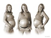 Babybauch Montage Beispiel