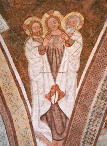 Darstellung der Hlgst Dreifaltigheit-Fresko Urschalling