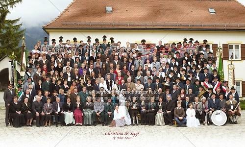 Gruppenfoto Kirchplatz Niederaschau