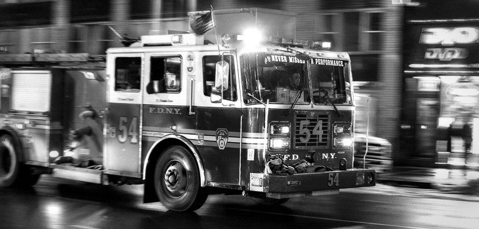 Wandbild Feuerwehr New York Manhattan