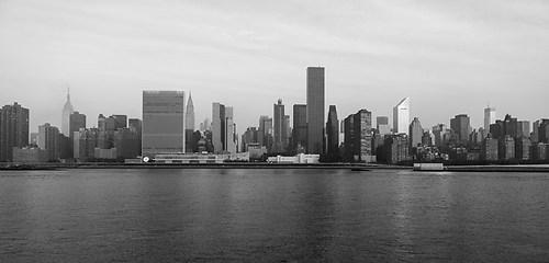 Wandbild Manhattan New York Skyline von Queens