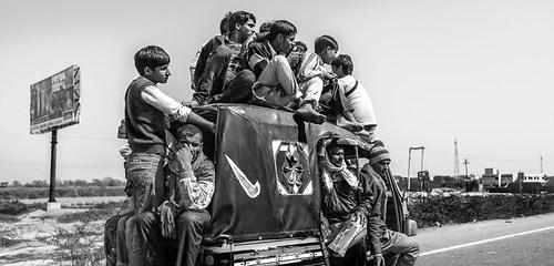 Wandbild Dehli Auto fahren Indien