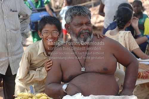 Vater und Sohn Indien